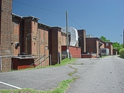 Photo side view of original Spray Cotton Mills building